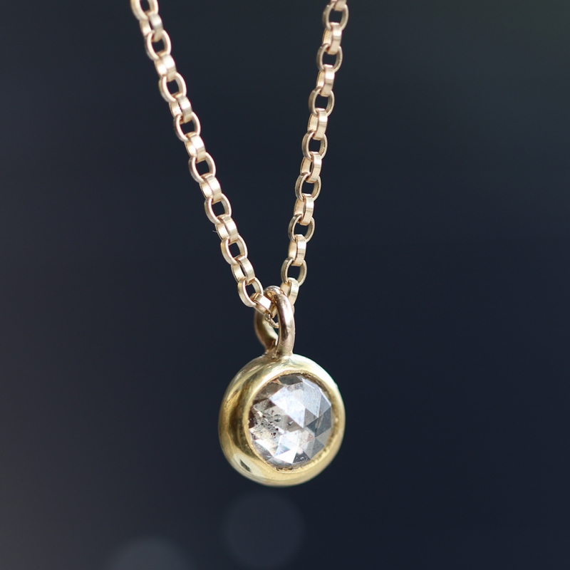 Champagne Diamond Drop Necklace