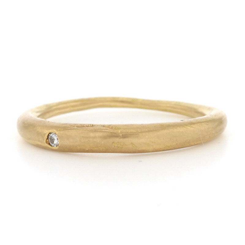 Thin Gold Tapered Band