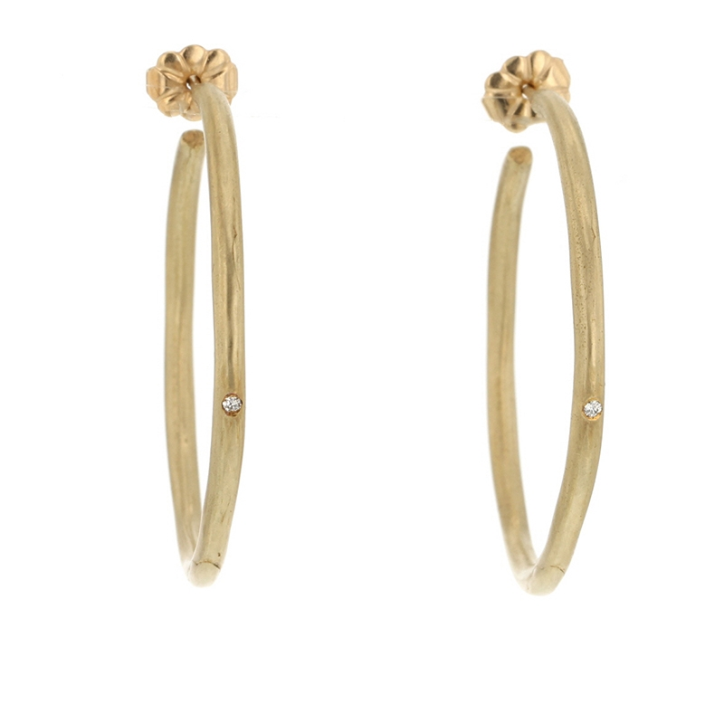 Perfect Gold Hoops with Diamonds
