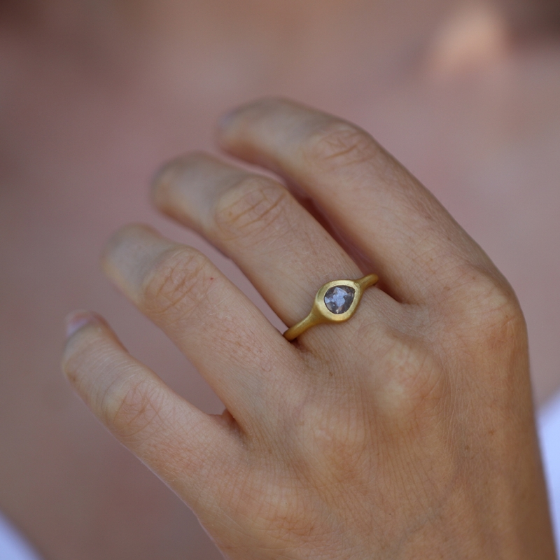 Teardrop Gold Diamond Ring