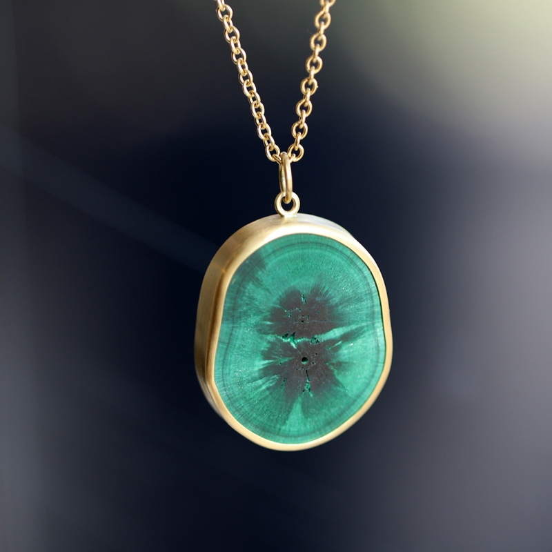 Malachite Slab Stalagmite Pendant (Chain Sold Separately)