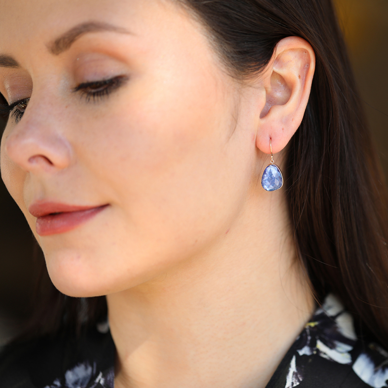 Rose Cut Tanzanite Earrings