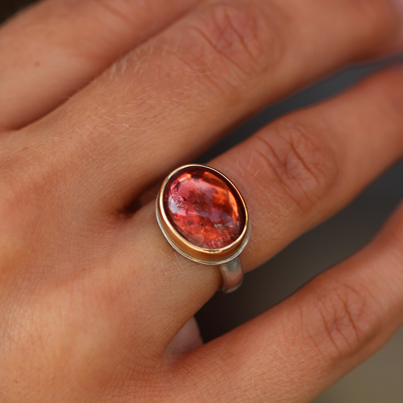 Small Oval Tourmaline Ring
