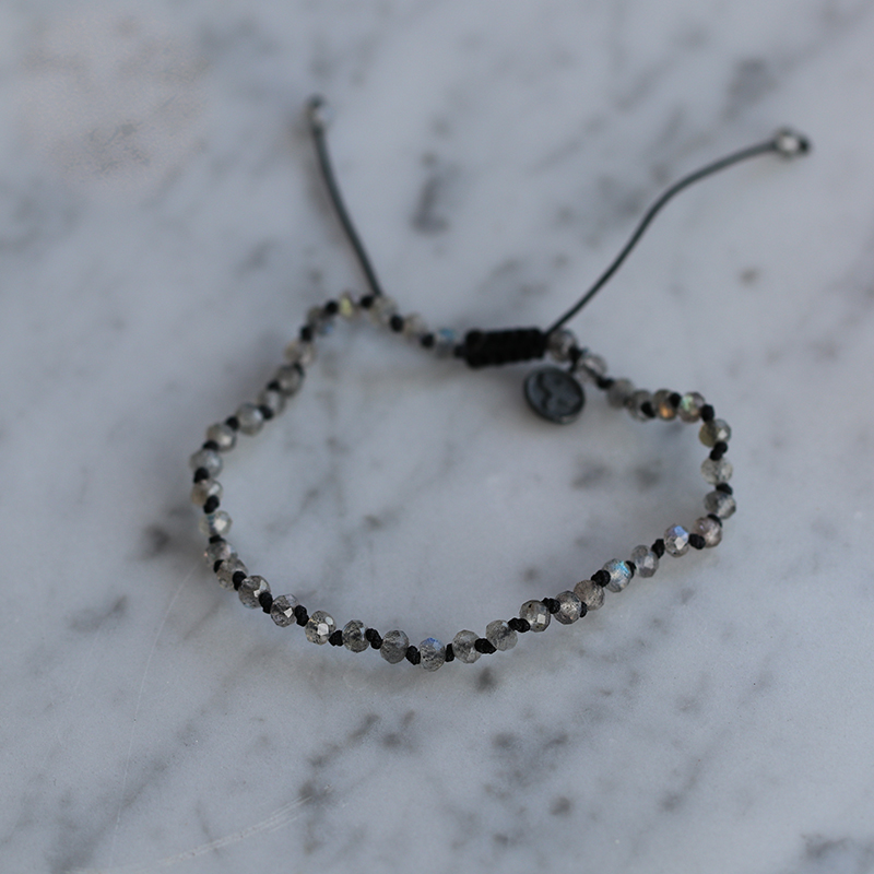 Labradorite 4mm Faceted Bracelet