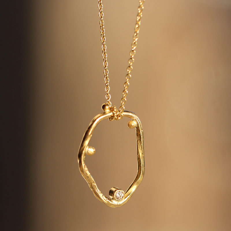 Cloud 18k Gold Necklace