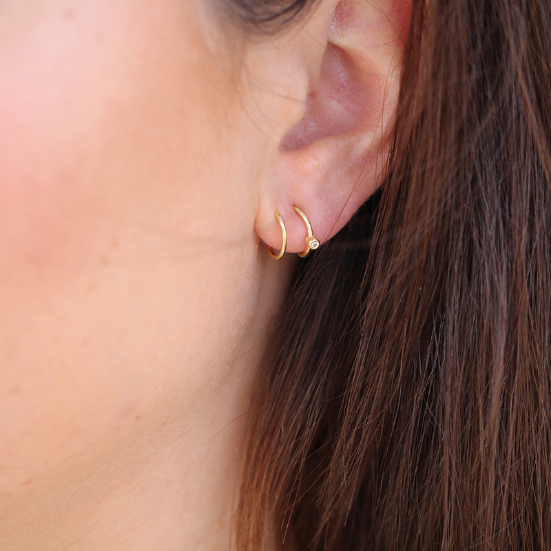 Spiral 18k Gold Earrings