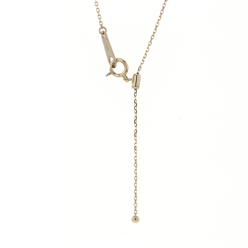 Tassle and Round Brilliant Diamond Necklace