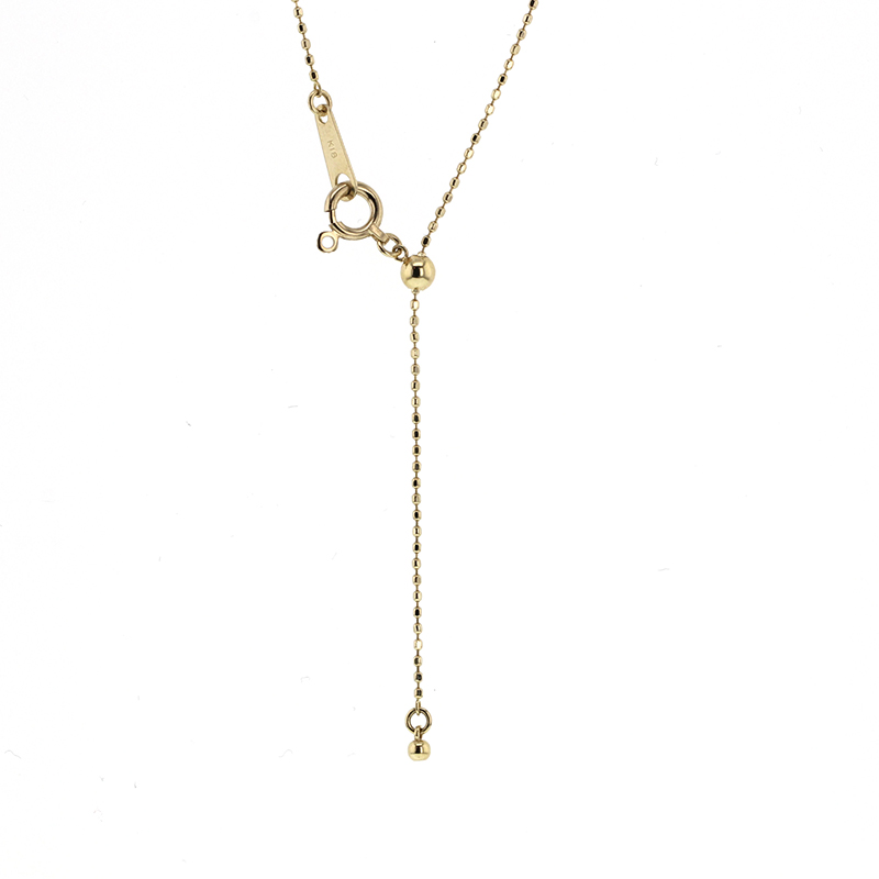 Brilliant Round Diamond Tassle Necklace