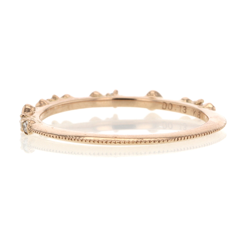 Diamond Dotted 18k Rose Gold Band