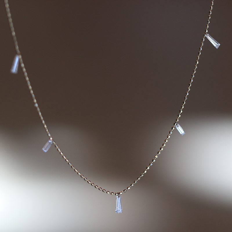 Tapered Diamond Necklace