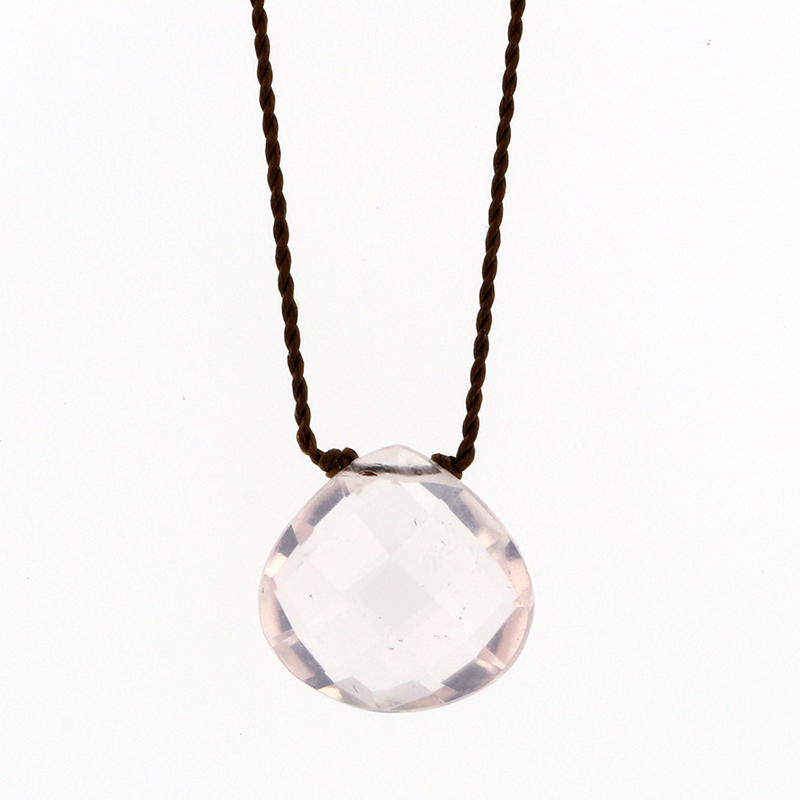 Faceted Rose Quartz Zen Gems Necklace