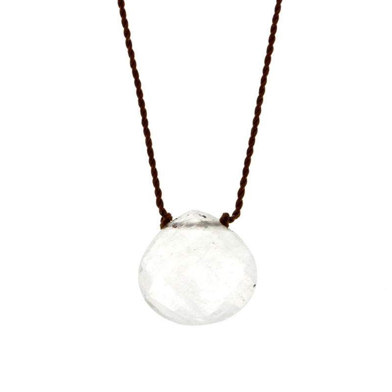 Faceted Rainbow Moonstone Zen Gems Necklace