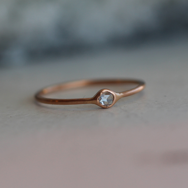 Rose Gold Small Diamond Ring