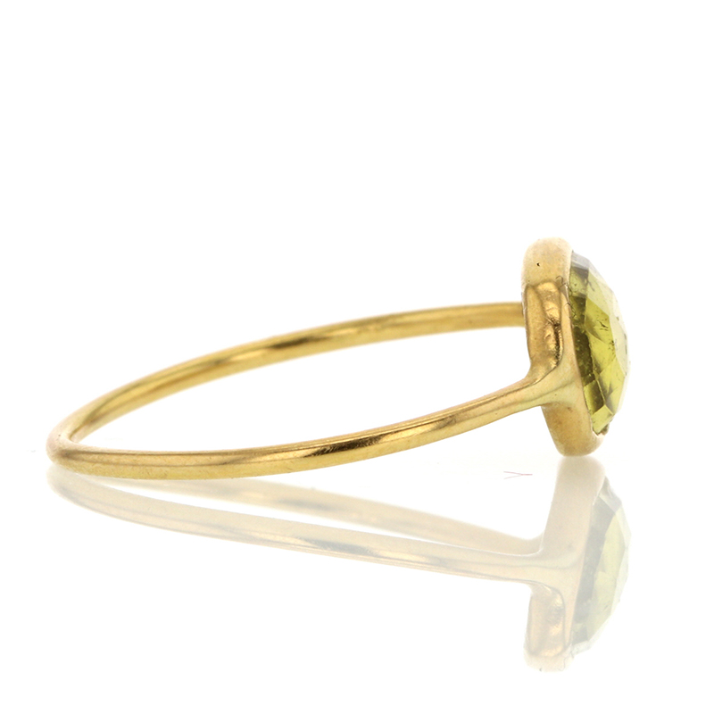 Yellow Tourmaline 18k gold Ring
