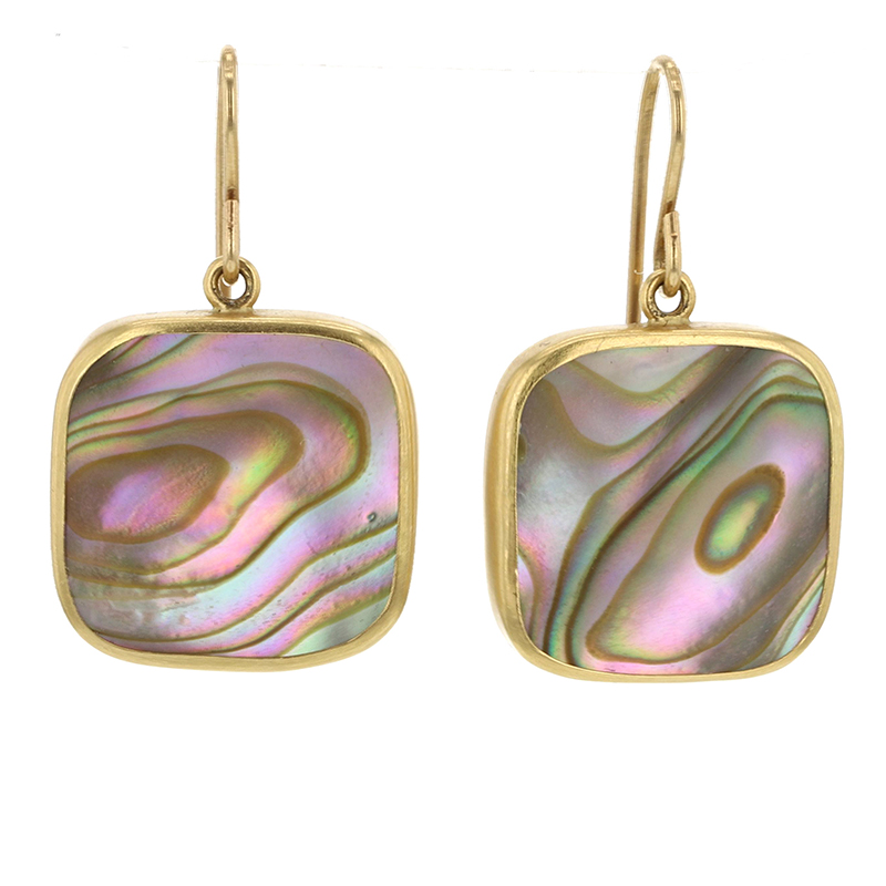 Abalone Gold Earrings