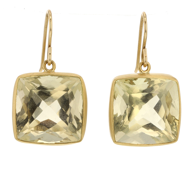 Champagne Quartz 18k Gold Earrings