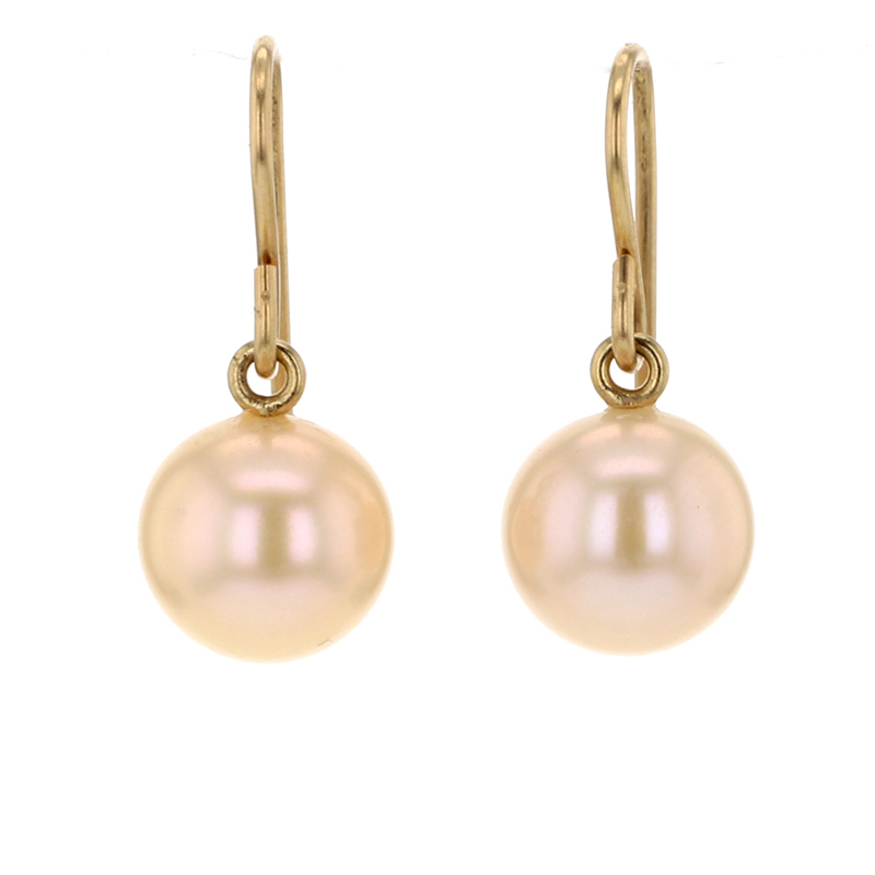 Soft Pinkish White Freshwater Pearl Earrings