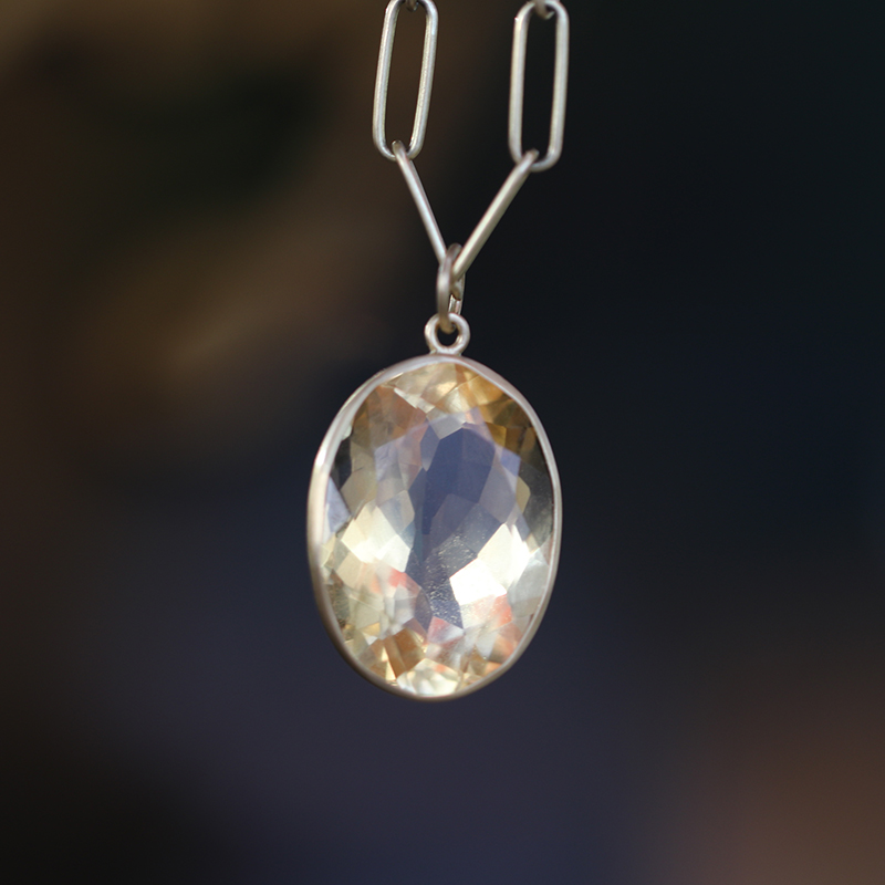 Citrine Faceted Pendant (Chain Sold Separately)