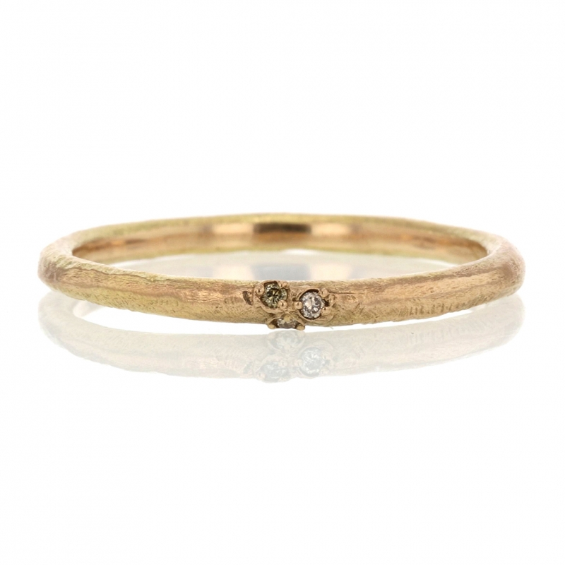 Brown Diamond Gold Band Ring