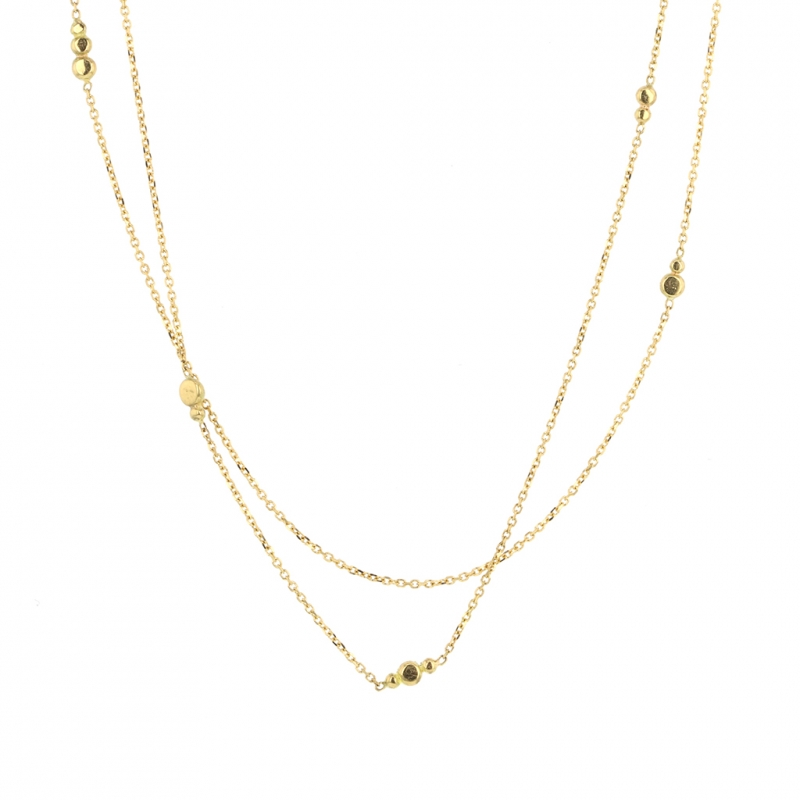 18k Gold Double Strand Necklace