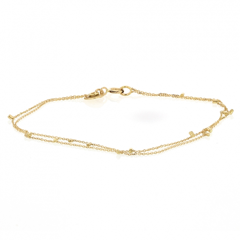 18k Double Strand Gold Dust Bracelet