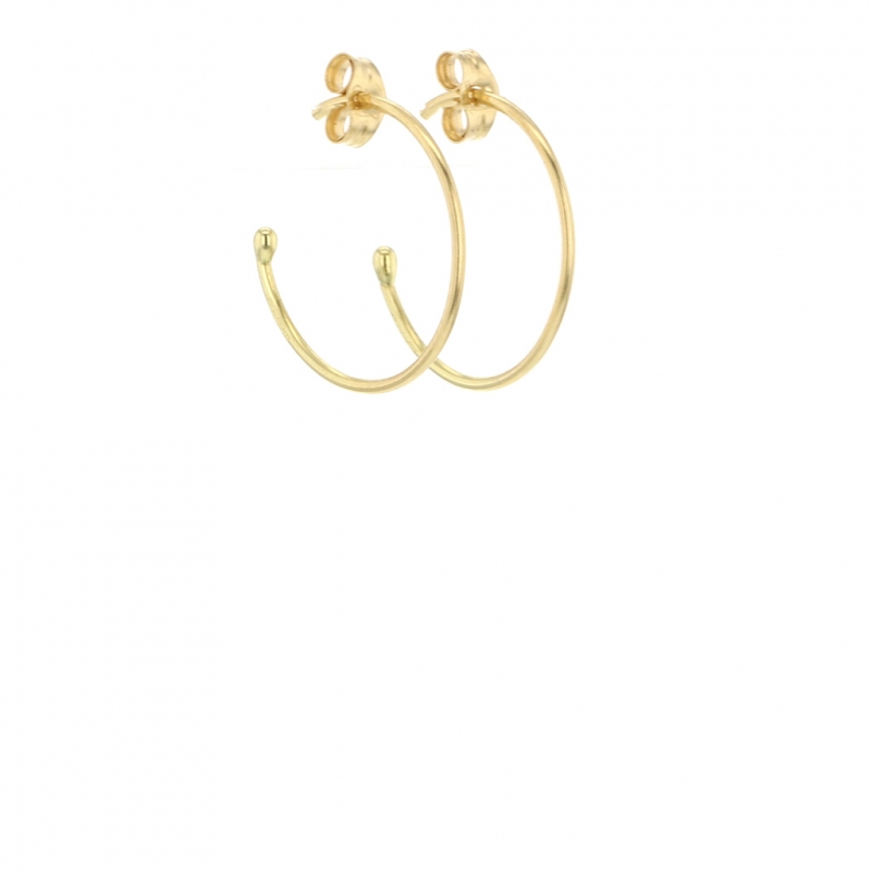 Small 18k Yellow Gold Hoop Earrings
