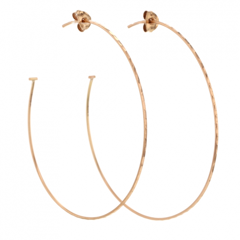 Extra Large Rose Gold Hoop Earrings
