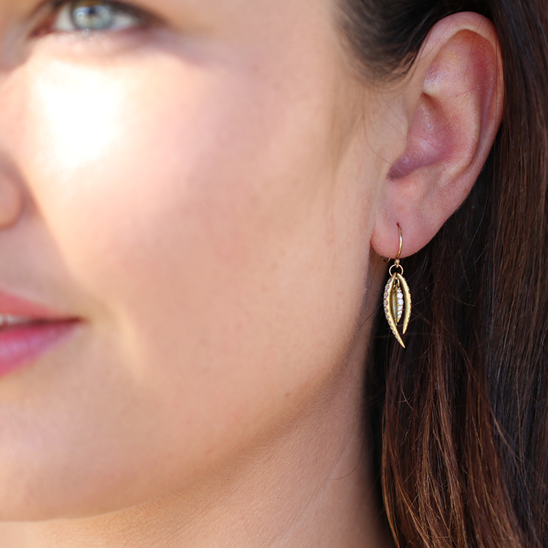 Pave Tusk Earrings