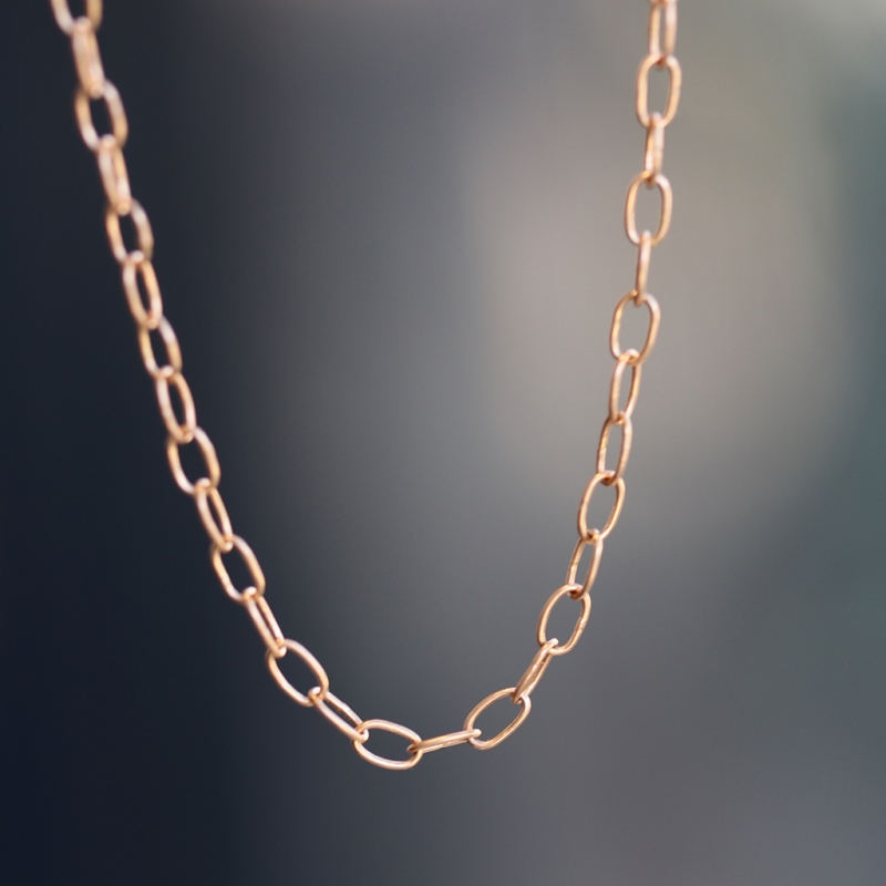 Petite Chain 18k Rose Gold Long Necklace