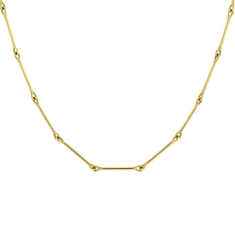 Needle Eye 18k Gold Chain