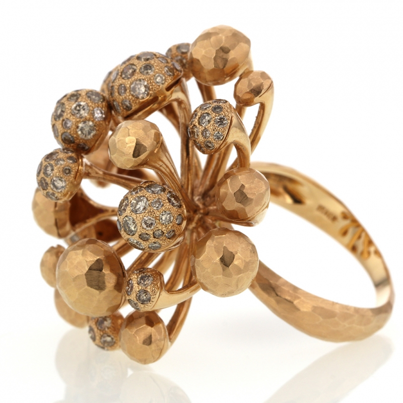 18k Rose Gold Fireworks Diamond Ring