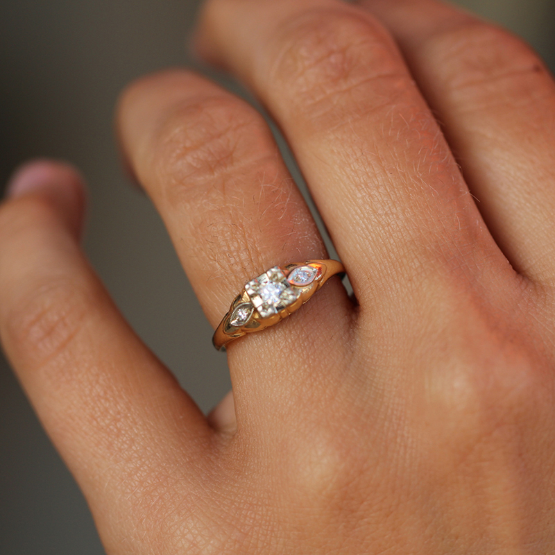 Yellow Gold Vintage Diamond Ring