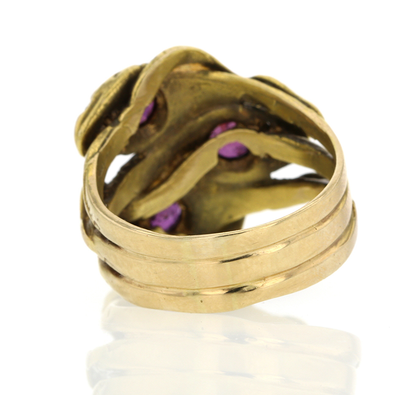 Vintage Triple Gold Snake Ring