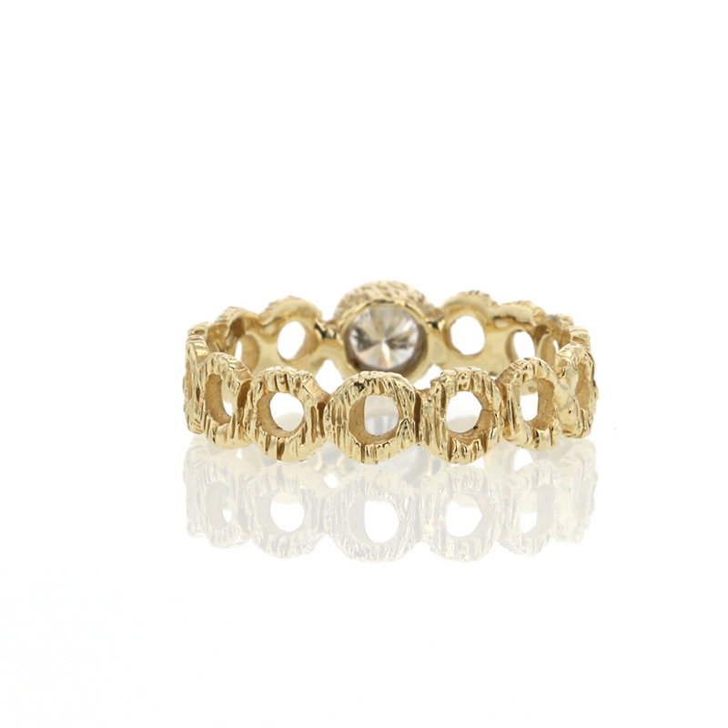 Diamond Gold Loop Ring