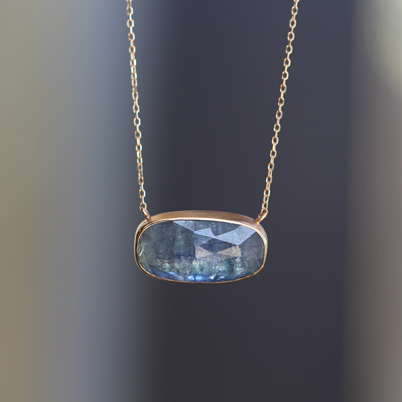Tanzanite Faceted Necklace