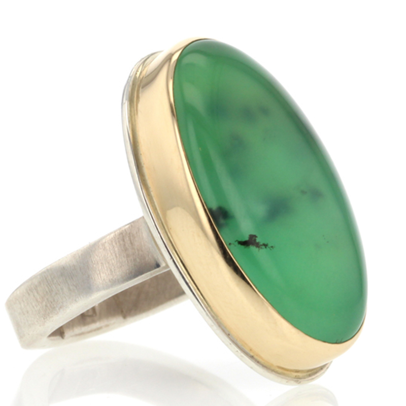 Chrysoprase Vertical Ring
