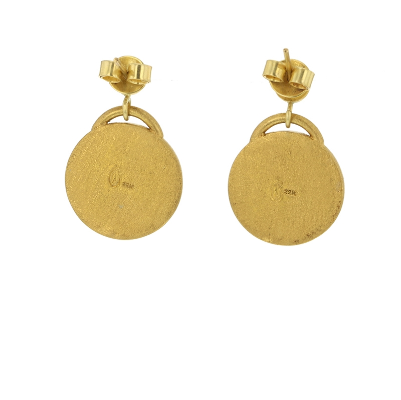 Ancient Ottoman Gold Coin Earrings