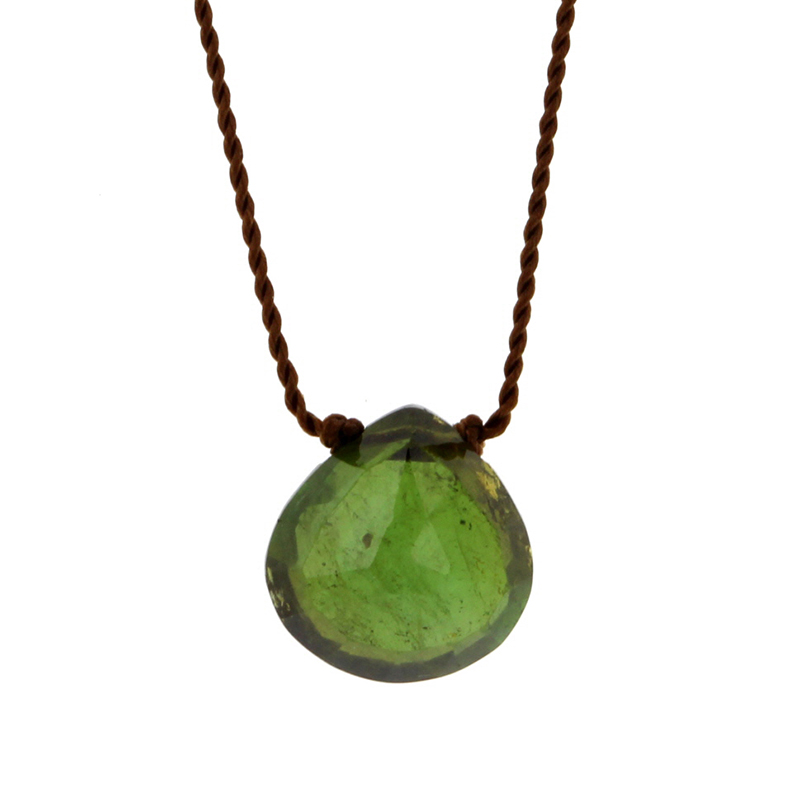 Green Tourmaline Zen Gems Faceted Necklace