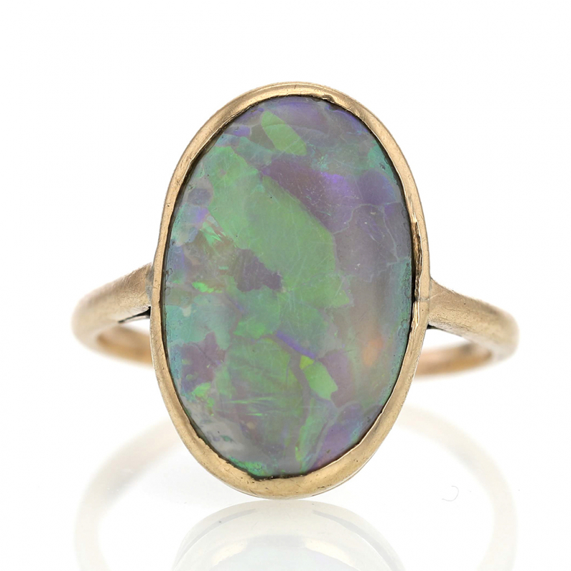 Victorian 14k Gold Opal Ring