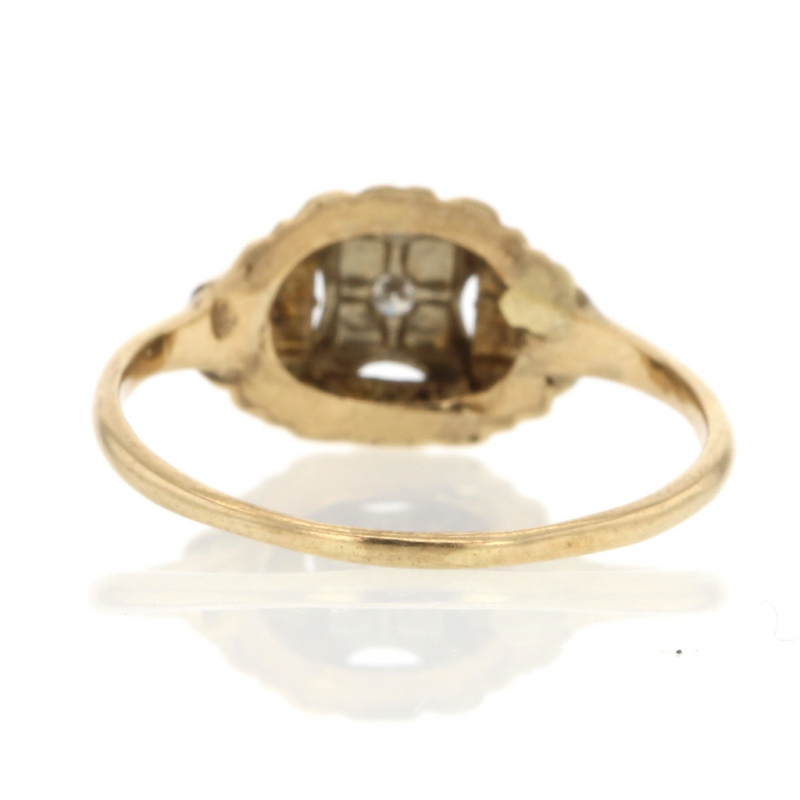 Yellow Gold Diamond Vintage Ring