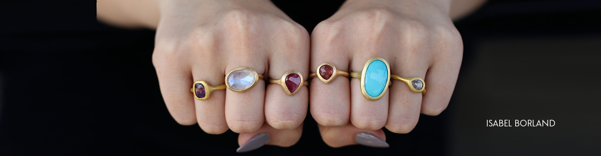 Isabel Borland Gemstone Ring at Voiage Los Angeles