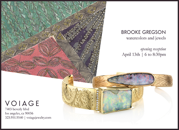 Brooke Gregson Watercolor and Jewelry Show