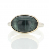 Oval Smooth Blue Green Tourmaline Ring