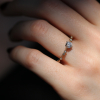 New Moon Diamond Solitaire Ring