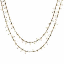 Pinned 18k White Gold Pearl Necklace Image