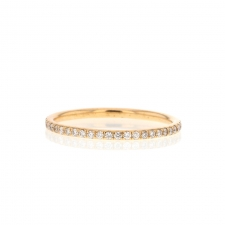 Thread Band in 18k Rose Gold with Diamonds Image