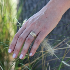 Gold Feather Ring Image