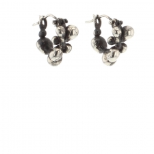 Brushed Silver Molten Cluster Hoops Image