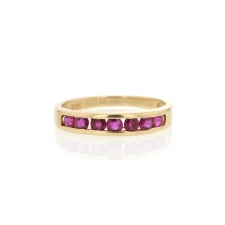 14k Channel Set Ruby Ring Image