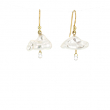 Keishi Pearl Daydreamer Diamond Drop Earrings